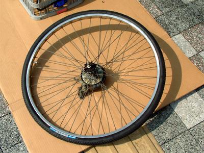 自転車の 自転車 リムテープ ママチャリ : ... てん - ママチャリのタイヤ交換